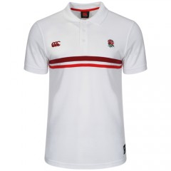 England Rugby Stripe Polo Shirt